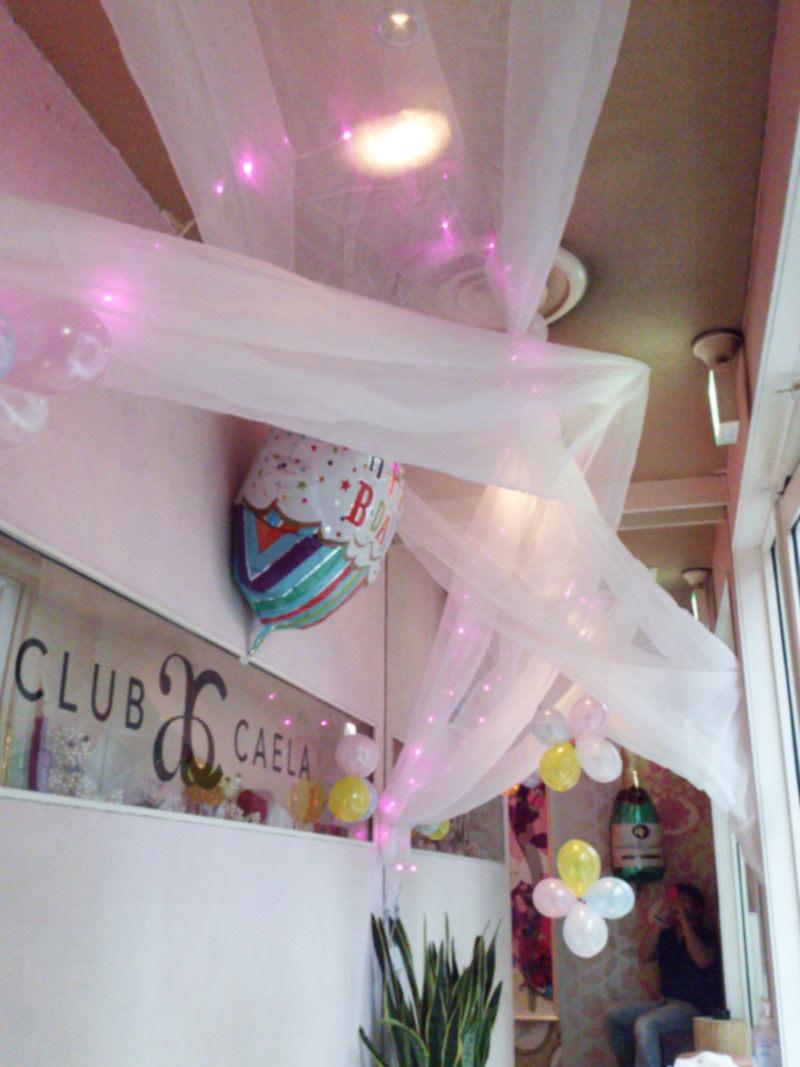 キャバクラ布装飾バースデーイベント