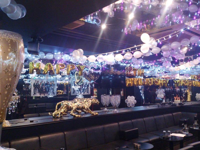 ホストクラブ周年イベントバルーン装飾