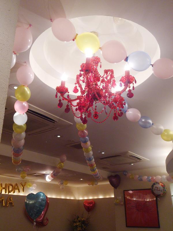 ラウンジ誕生日イベントバルーン装飾