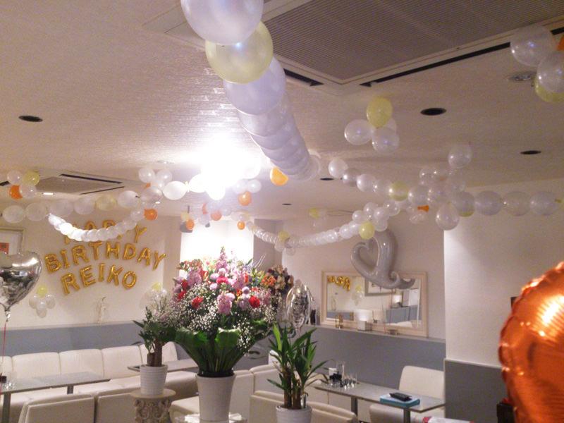 スナック誕生日イベントバルーン装飾