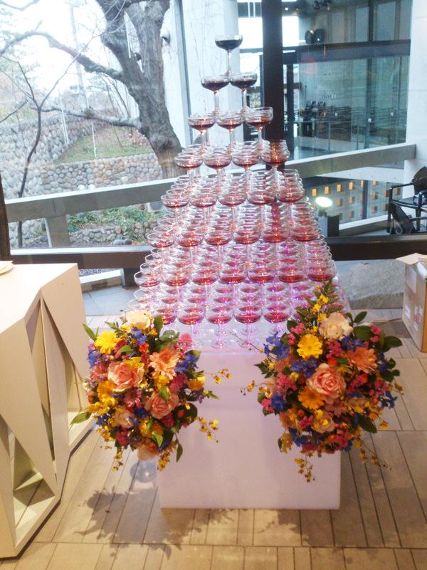結婚式二次会シャンパンタワー