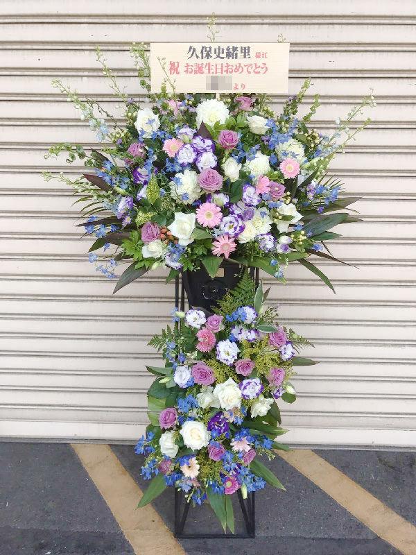 パステルカラーおまかせ3段スタンド花