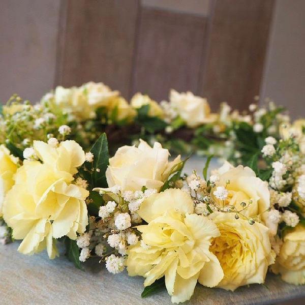ウェディングバラ花冠ヘッドパーツ