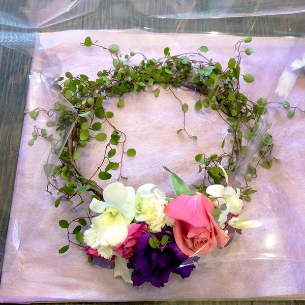 ウェディング花冠ワイヤープランツ