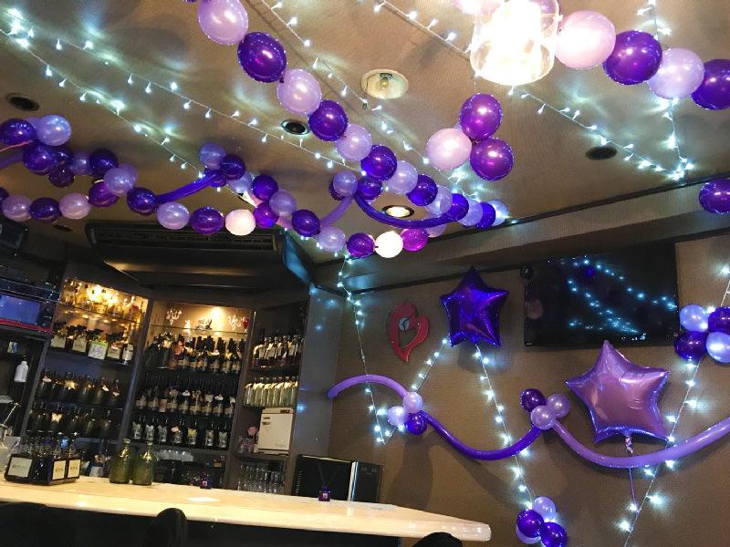 バルーン装飾紫星風船