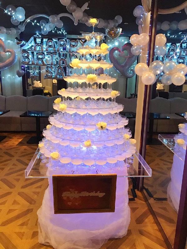 バルーン装飾シャンパンタワー