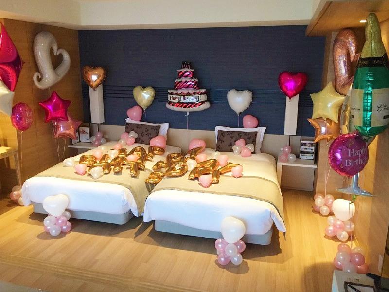バルーン装飾風船誕生日サプライズプロポーズハートクローバー