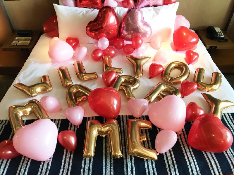 バルーン装飾風船誕生日サプライズプロポーズ