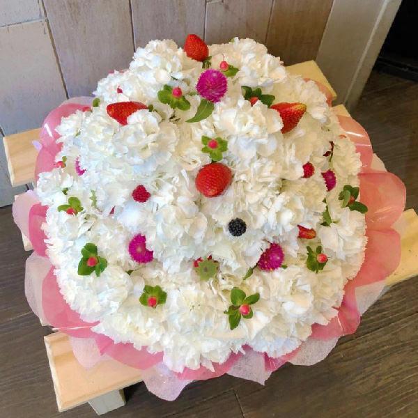 オーダーメイドフラワーケーキ誕生日結婚式ショートケーキ
