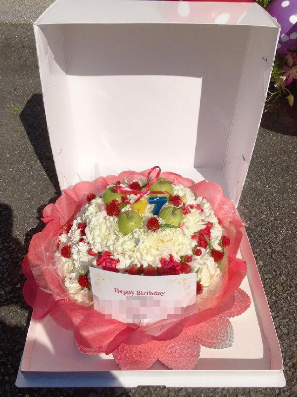 オーダーメイドフラワーケーキ誕生日結婚式ショートケーキ握手会欅坂46